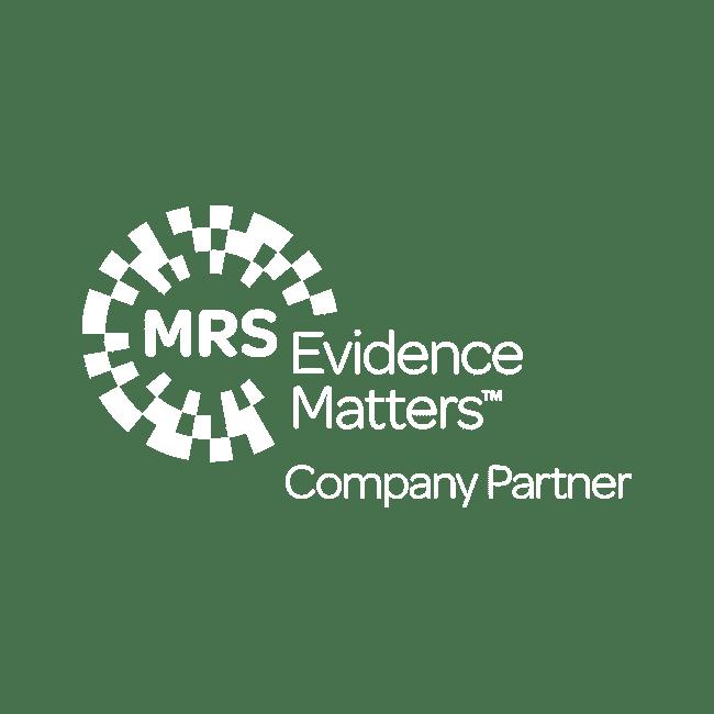 MRS Evidence Matters Company Partner Logo RGB WHITE